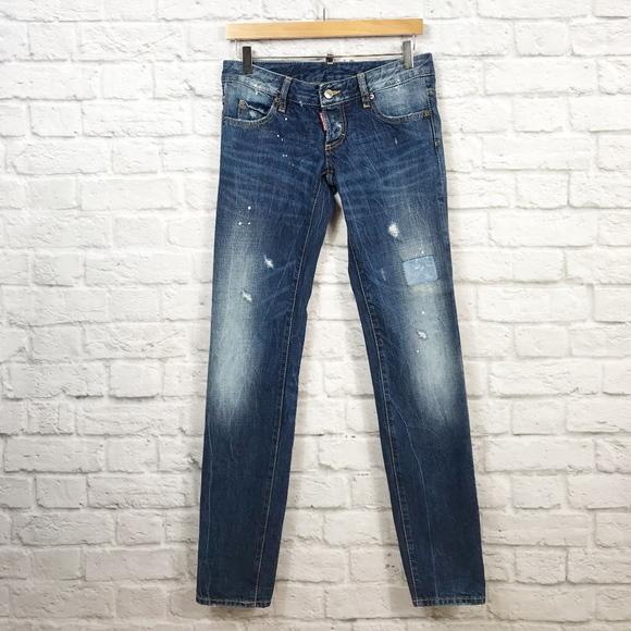 78b7da8d5f6 DSQUARED Jeans | 2 Distressed Paint Splatter Skinny Jean | Poshmark